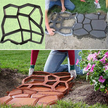 China DIY Plastic Path Maker Mold Stepping 51cm DIY Paving Cement Brick Stone Concrete New