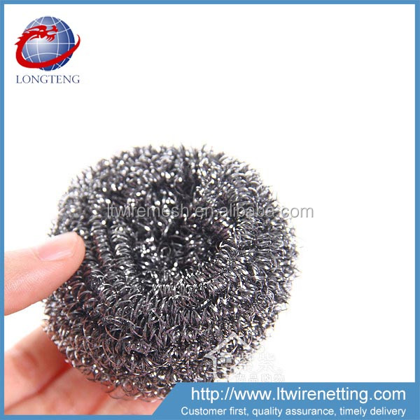 china hot sale factory price 0.13mm stainless steel 410 scrubber / kitchen scourer