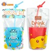 Packaging Drinks transparent Drinking Zipper Plastic Liquid Fruit Stand Up Disposable Juice Pouch