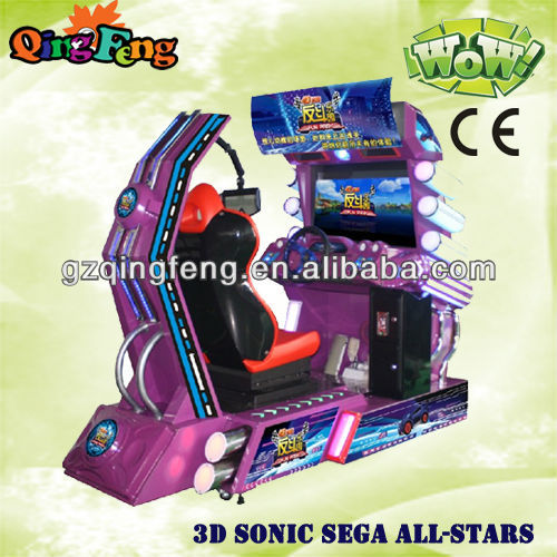 simulator racing game machine-3D sonic ALL STARS