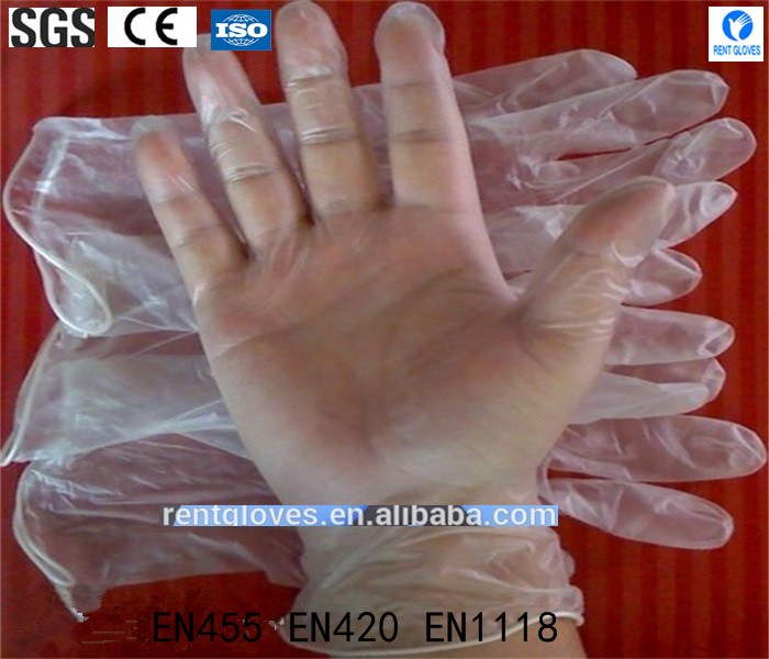 Factory Price Hot selling disposable Clear Blue examination Vinly Polyvinyl Chloride Gloves Alibaba wholesaler