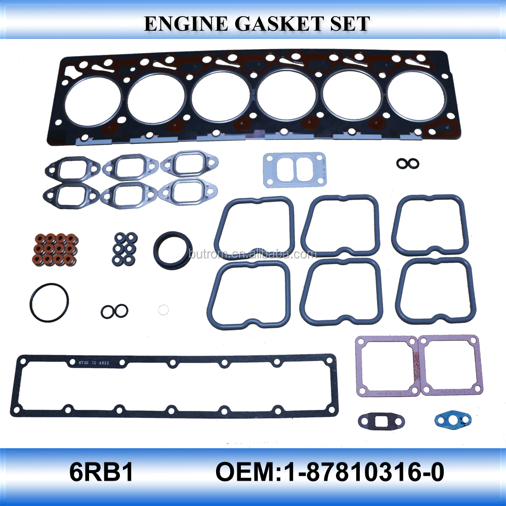 For OEM1-87810316-0 6RB1 engine gasket set auto parts