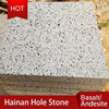 Hole sale Hainan hole stone, travetine stone, black basalt