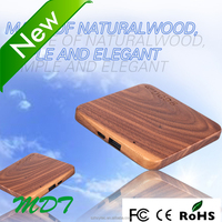 Premium quality slim power bank 2600mah wood Universal portable cell phone charger