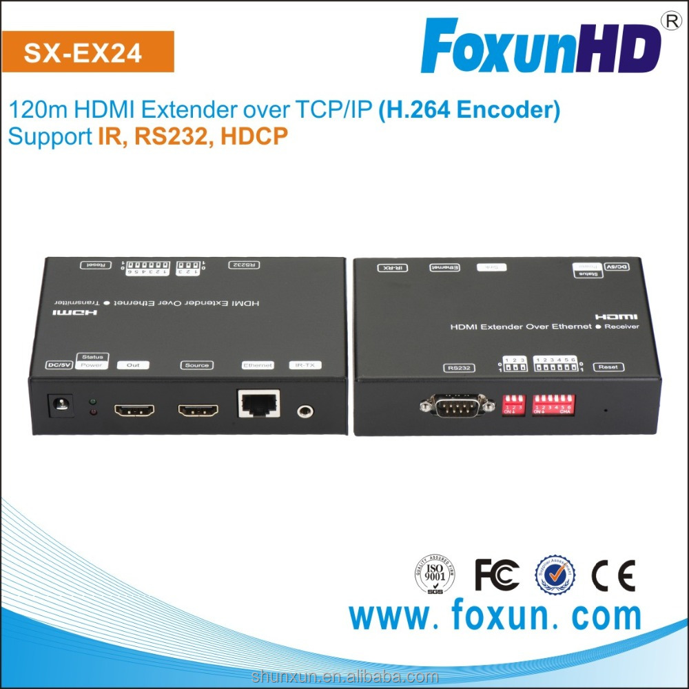 SX-EX24 HDMI Video Over IP Encoder - Decoder Kit Send HDMI Audio & Video over an Ethernet network to multiple screens