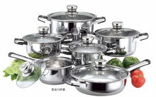 promotion set 12pcs cookware sets with temperature monitoring knob