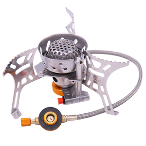 Chinese factory portable windproof camping gas stove