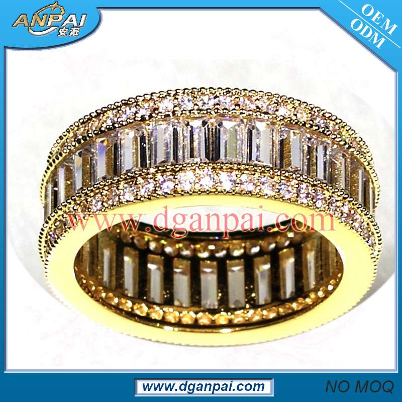 Luxury full AAA Cubic Zirconia master slave latest gold finger golden ring designs