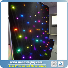 LED Twinkling clothing & DJ Group Stars Christmas Curtain