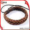China supplier trendy good cheap leather braided bracelet jewelry