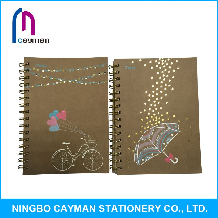 High Quality Eco-friendly Cheap Plain Paper Spiral Custom School Notebook
