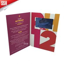 Deep blue video greeting card for invitation/ advertisement
