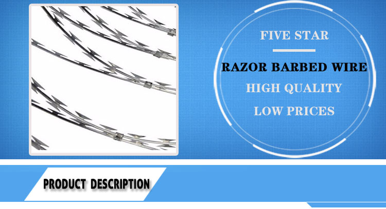 double shaving crossed razor barbed wire