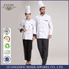 Custom Sets Of White Cotton Long Sleeve Chef Uniform