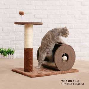 Cat Tunnel Cat House Wooden Furniture Cat Bed House