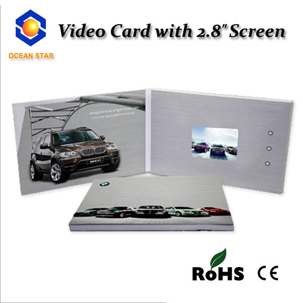 LCD video in print greeting card for promotion advertising