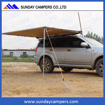 Durable 4x4 canvas vehicle side awning for sale
