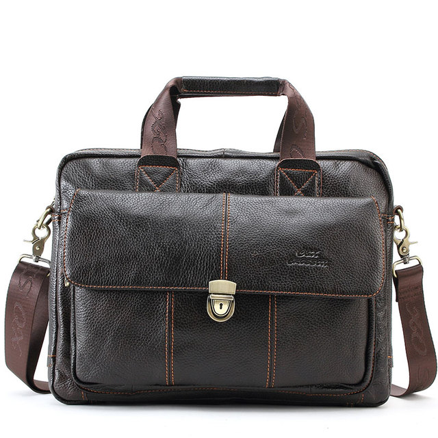 CROSS OX Genuine Leather Bag Casual Men Handbags Cowhide Men Crossbody Bag Men's Travel Bags Laptop Briefcase Bag for Man HB316F