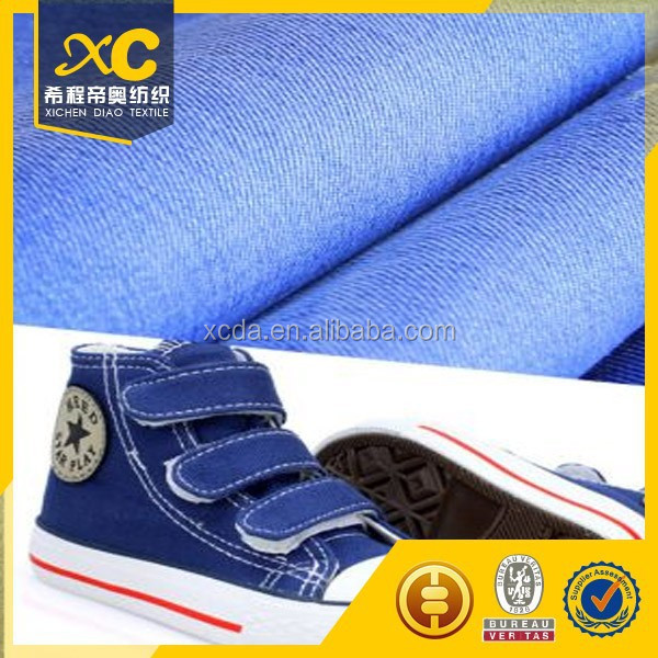 new fashion polyester cotton twill denim wedge shoes fabric
