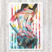 supplier wholesale canvas print sexy lady oil painting