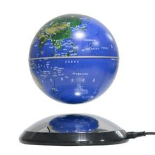 6 8 Inch Blue Gold Silver Black Magnetic Levitation Geographic Globe Floating Rotating World Map with LED Light on Planet Base