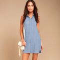 Small Quantity Manufacturer Stripe Shirt Women Dress