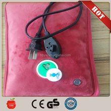 Plush Rechargeable Electric Hot Water Bag/electrothermal water bag with plush cover from china factory