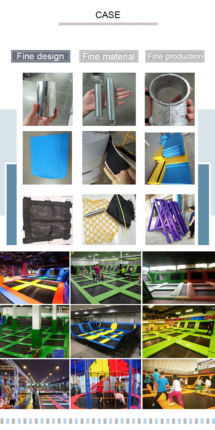 hot sale play zone Amusement Park large trampolines for sale