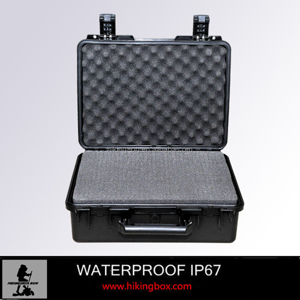 Wholesale waterproof hard ABS plastic carrying case/tool box with EVA foam insert No.HTC014