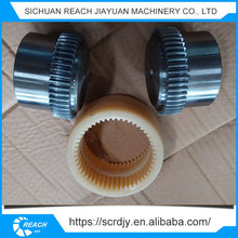 Plastic nylon sleeve gear coupling,nylon teeth gear shaft coupling sleeve