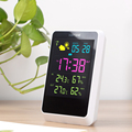 HAPTIME Beautiful Multifunction Lcd Calendar Temperature weather station Clock For Sale