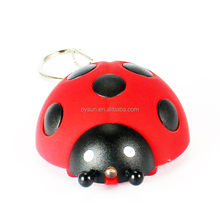 BS-294 beatle/ ladybug/ ladybird pendant flashlight toy key ring