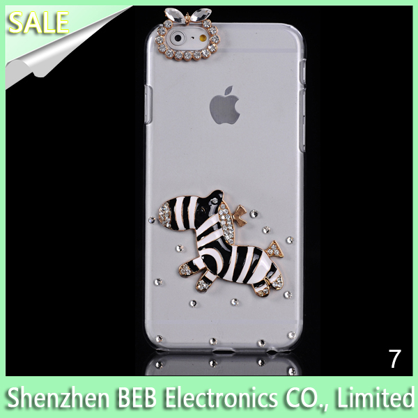 2015 Hot sale handmade diamond phone case wholesale cell phone case for iphone 6