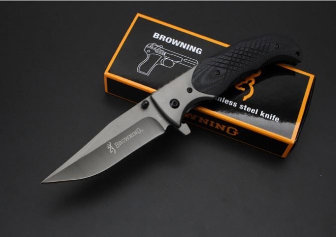 Browning 377 quick-opening survival kinfe combat knife army pocket knife hunting folding tactical knife