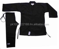 Karate Black Canvas Uniform 12oz