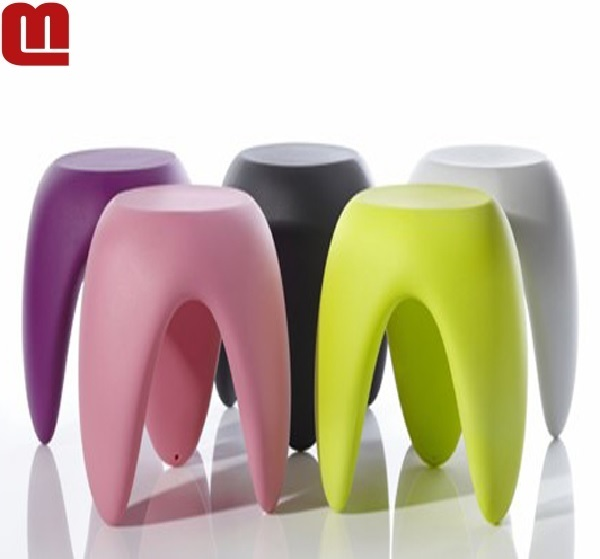 Rotational molded colorful durable plastic round stool