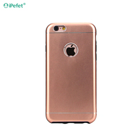 Free Sample Aluminum Metal TPU Material Back Cover Cell Phone Case For iPhone 6