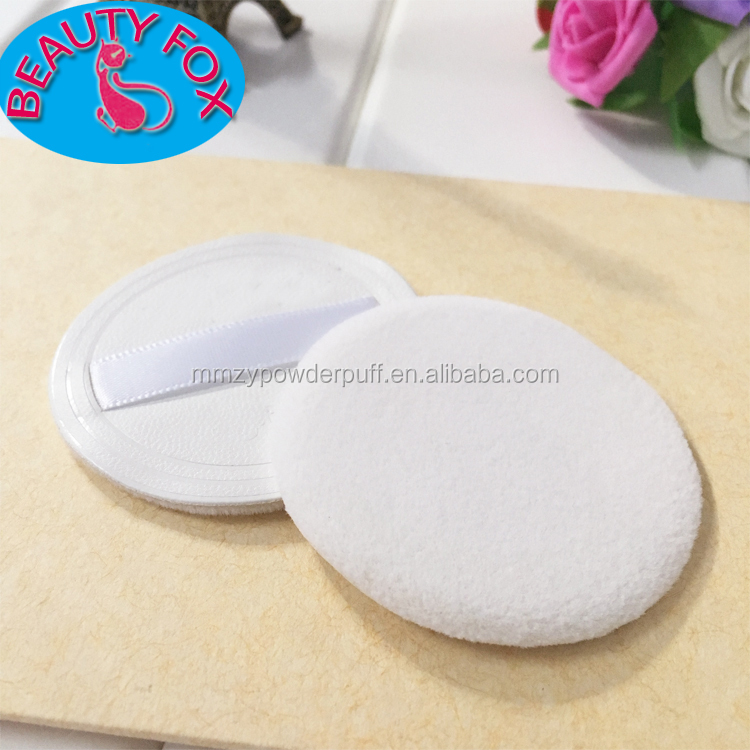 Free Sample Cosmetic PU Flocking Puff Makeup Tools Foundation Blender Velvet refillable Powder Puff