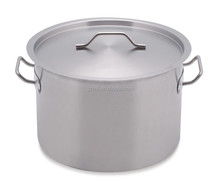 Short body stocks pot /stainless steel stocks pot with cap for sale