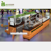 Attractive retail retail fast food shop interior design with salad bar counter for sale
