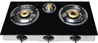 Kitchen Cabinet Top Glass Gas Stove with 3 Gas Burner Manufacturer China