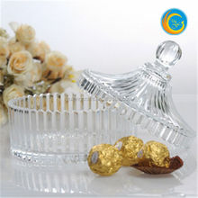 glass Candy jar With satin les lid