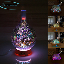 3D glass and bamboo ultrasonic aromatherapy essential oil aroma diffuser humidifier