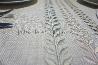 High Quality Customized Hand Embroidery Over The Cotton Tablecloth