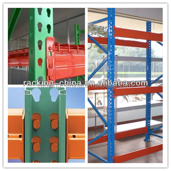 Pallet selective racking teardrop style from Jiangsu supplier