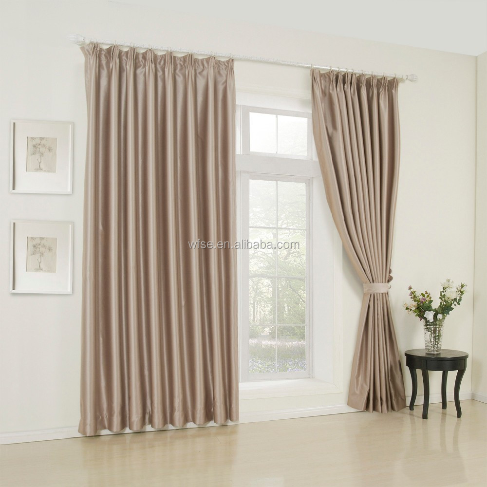 100% Polyester Flame Retardant Luxury Hotel Curtain For Window Drapery