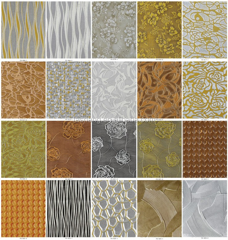 Embossed 3D MDF panels home wall decoration covering