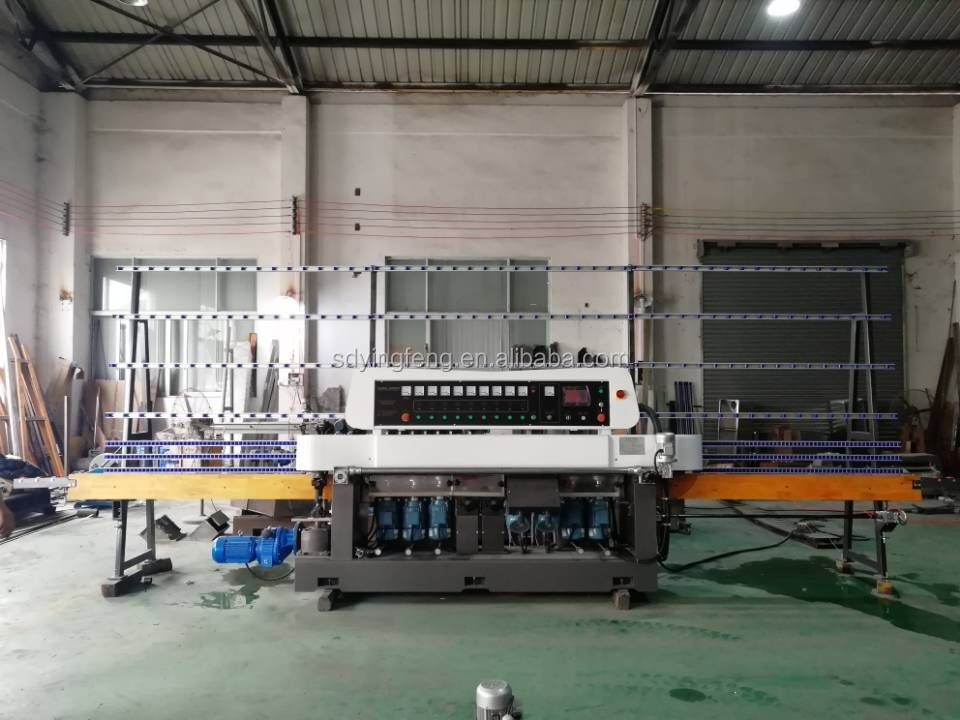 JFE-9243 CE 9 Spindles Glass straight line grinding and polishing  machine