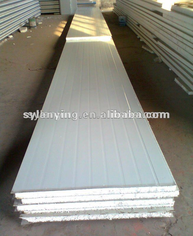 Galvanized EPS/polyurethane/ foam sandwich wall panel/good thermal and soundproof property steel panel