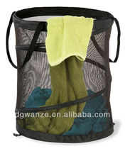 No cover mesh Pop-up laundry basket with handles